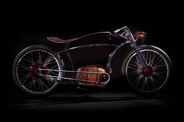 还原1930年代的电动复古自行车,感受蒸汽朋克带来的美感