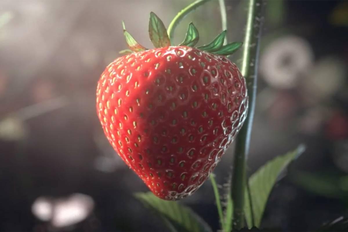 3D模拟动画:草莓生长过程邪恶恐怖 但非常有趣