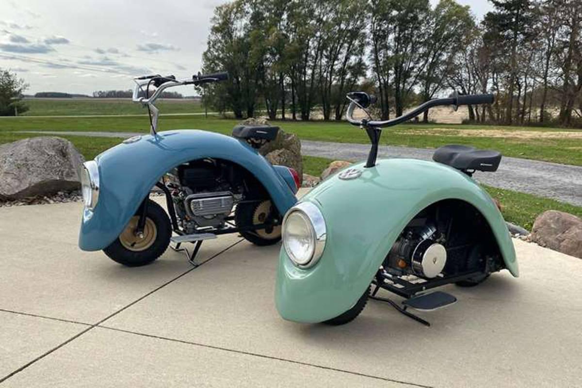 手工达人打造甲壳虫摩托车,甚至比大众甲壳虫还可爱