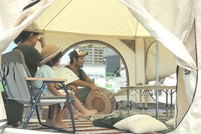 在城市中心举办一场露营活动是怎样的体验?