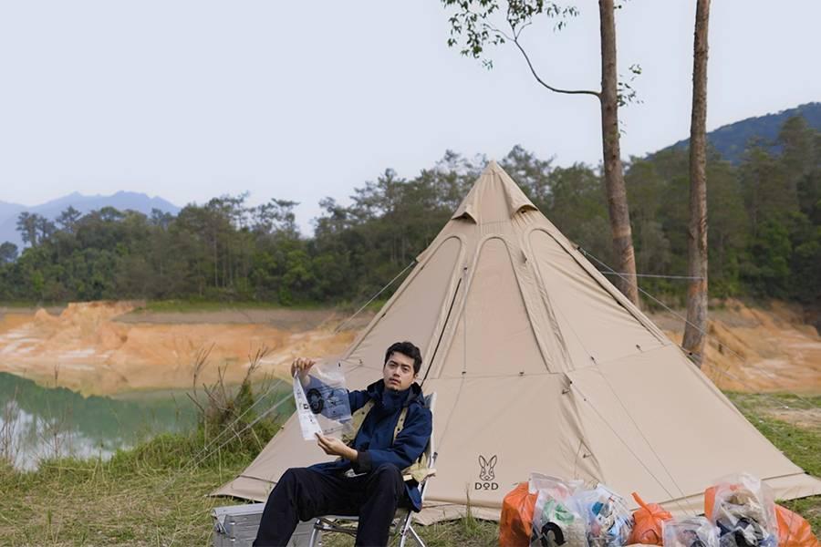 为绿色环境贡献一份力量,露营爱好者的郊外拾垃圾之旅!