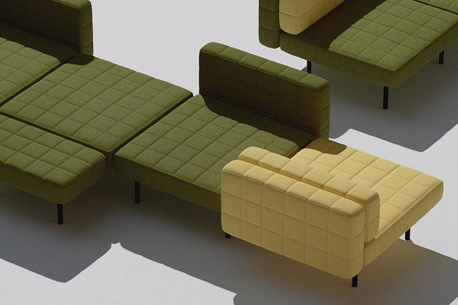 """灵感来自""""踩地雷""""游戏,丹麦BIG推出最新模组化Voxel沙发"""