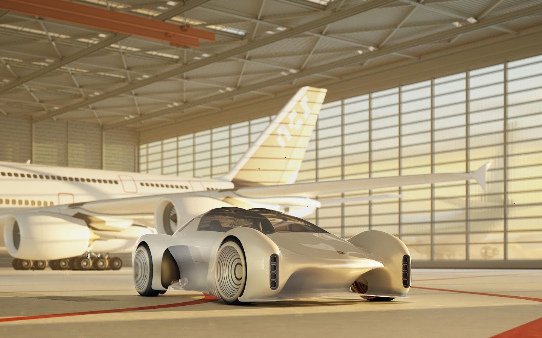 极具未来科幻感的保时捷411概念车,突破传统印象