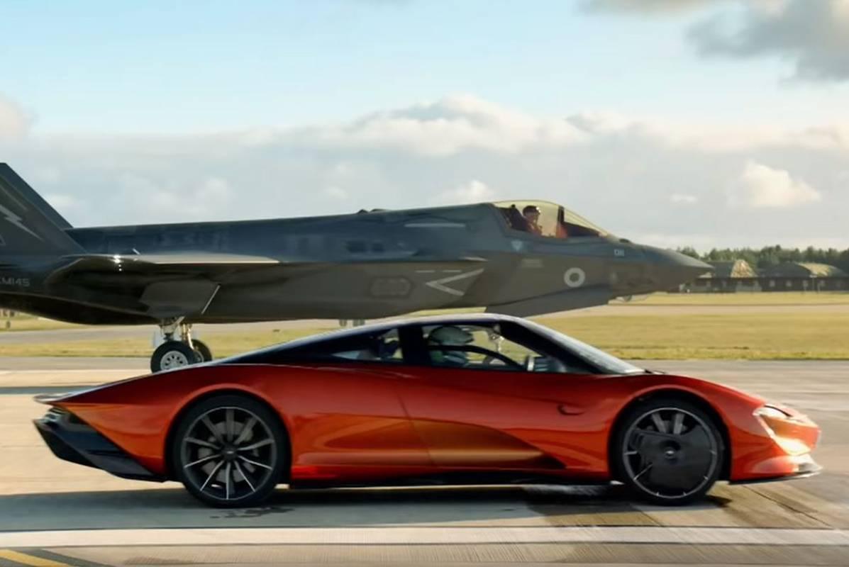 迈凯伦Speedtail对战F-35B战斗机,结果是可怕的