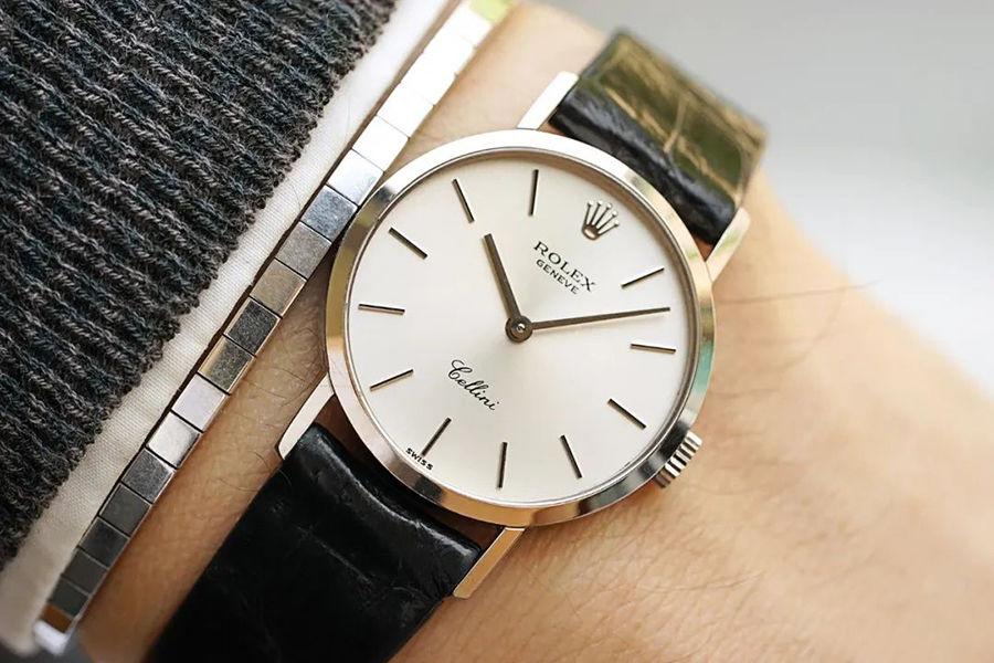 1995年Rolex Cellini白金女士腕表,典雅气质难以掩盖