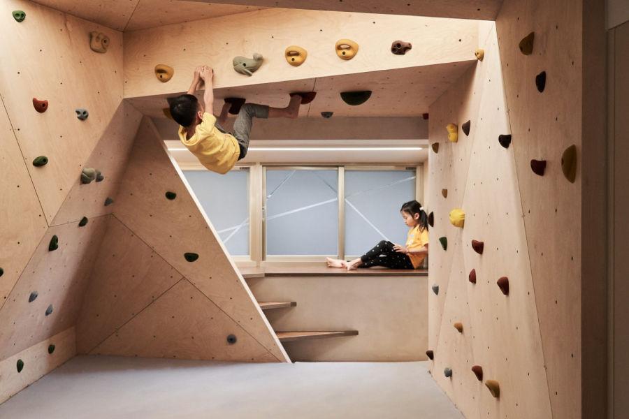 """20年老屋改造,在家给孩子造了一个""""攀岩空间"""""""