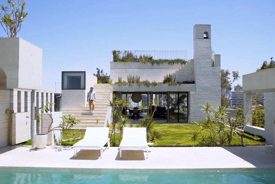 这对设计师的家,屋顶花园设计的太美了!