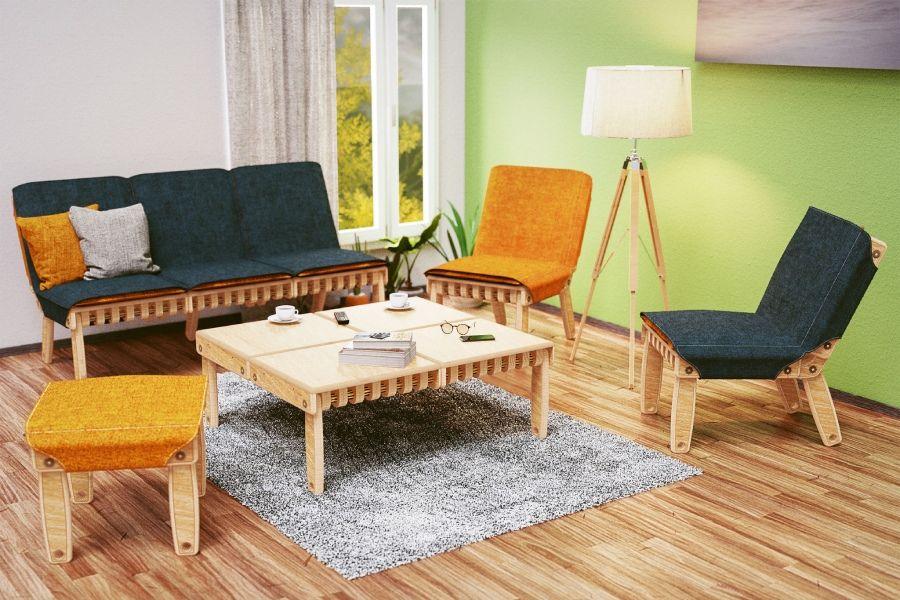 能自己组装的模块化家具,比乐高还好玩!