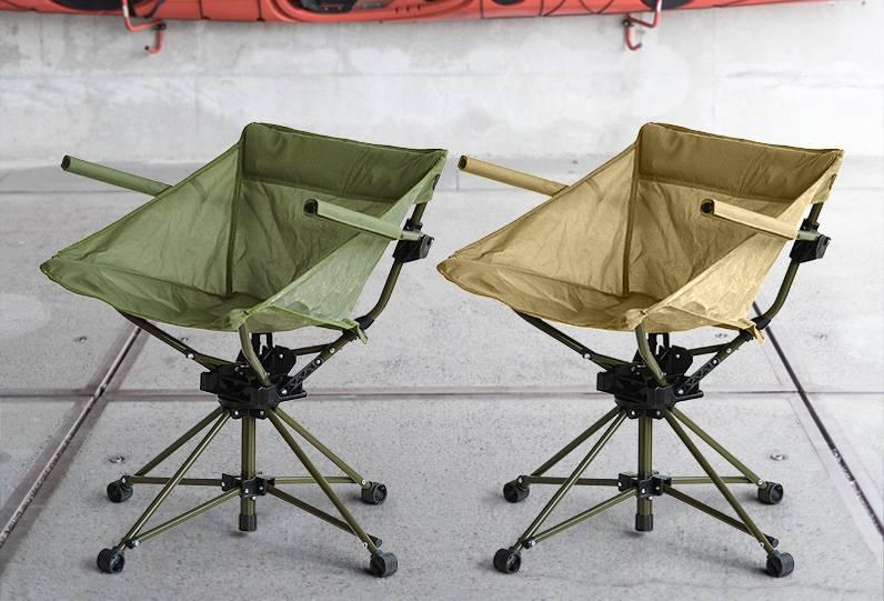 像在家坐沙发一般舒适,可360度旋转的露营用椅