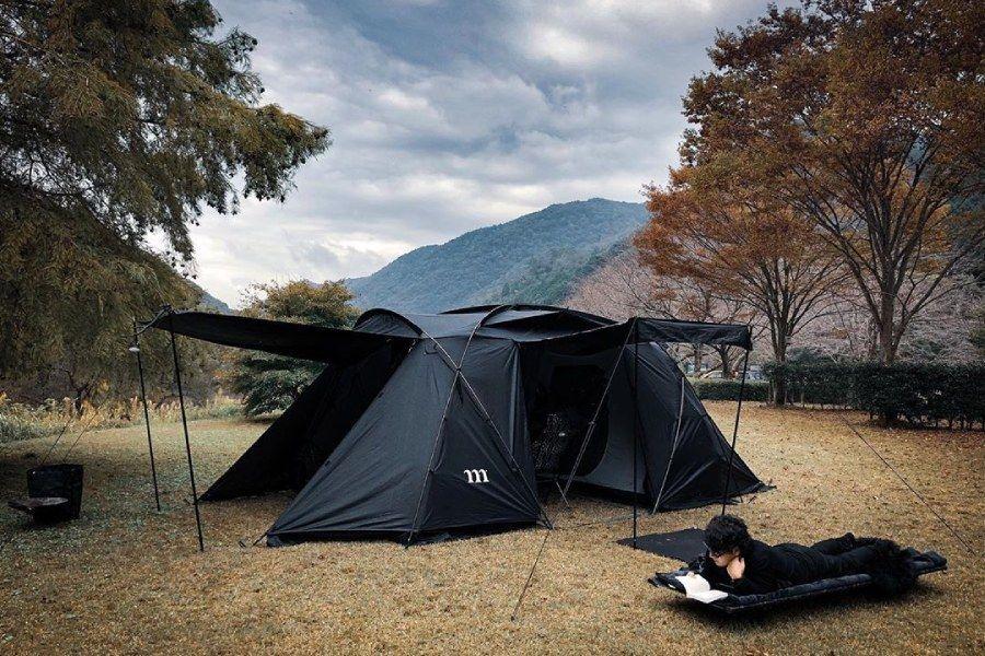 非常独特的露营风格,十分酷炫的全黑主义!