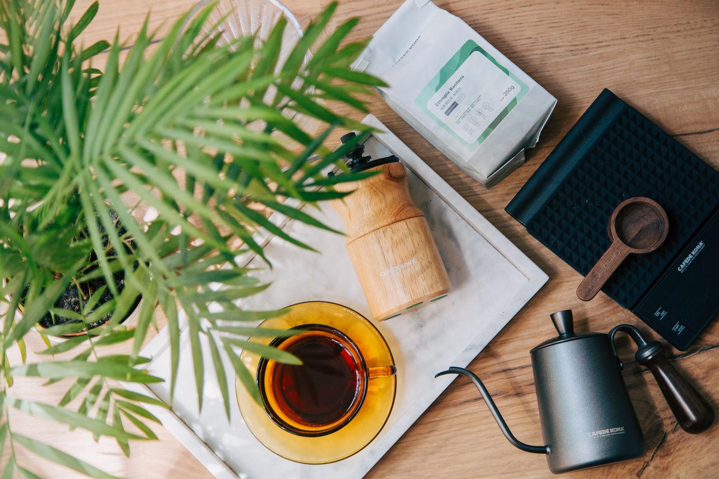 CAFEDE KONA礼盒套装,手磨咖啡初学者的福音