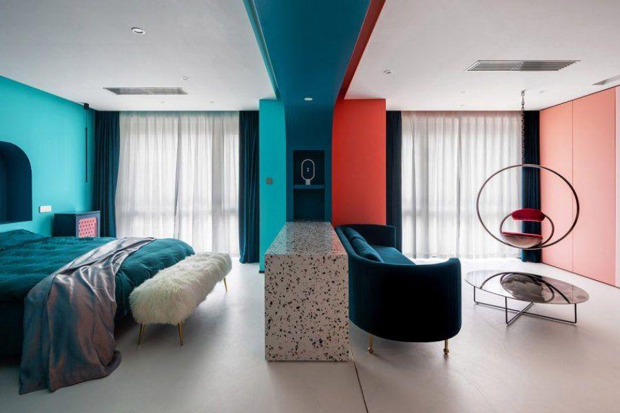 上海单身女律师的家,冷暖色调混合的独居空间