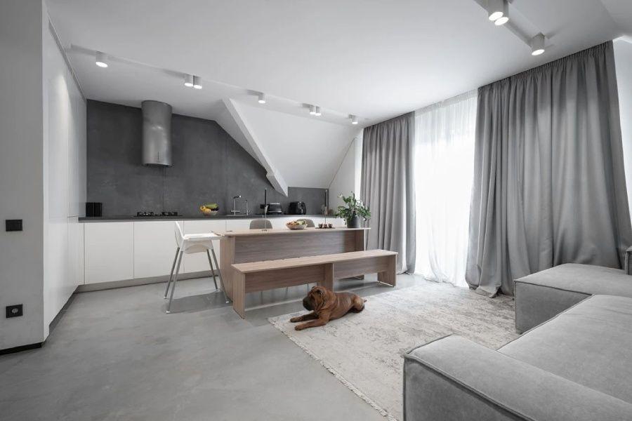高级灰风格的小户型阁楼,设计大气且不显压抑