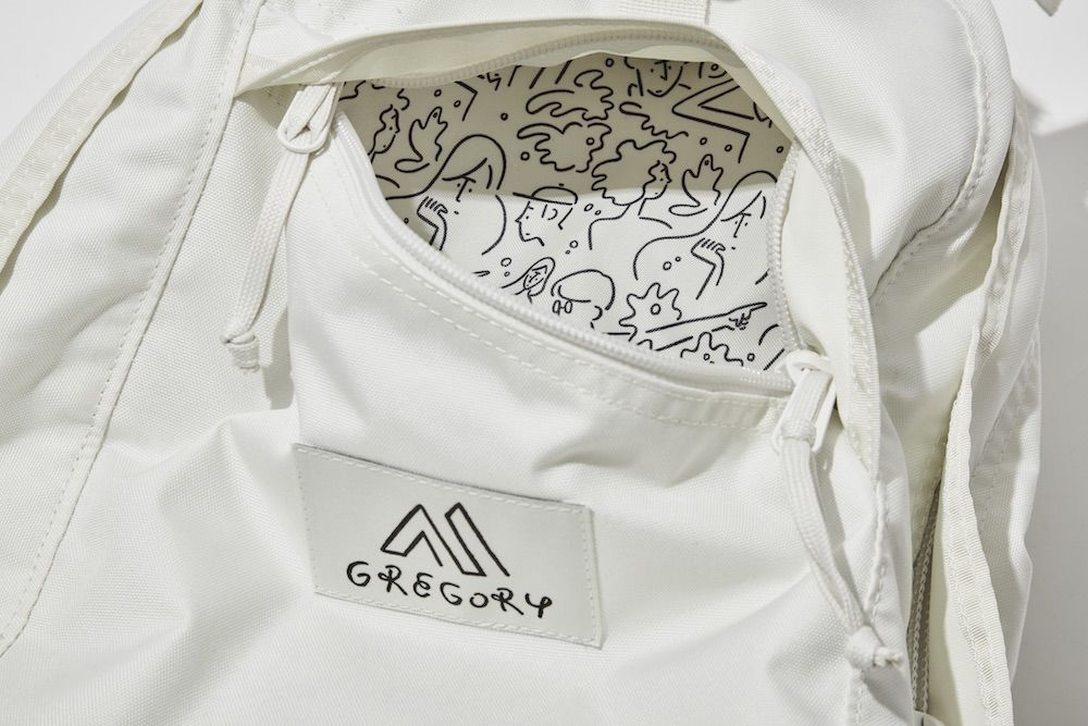 長場 雄设计&绘制,GREGORY推出一组纯白艺术风包袋