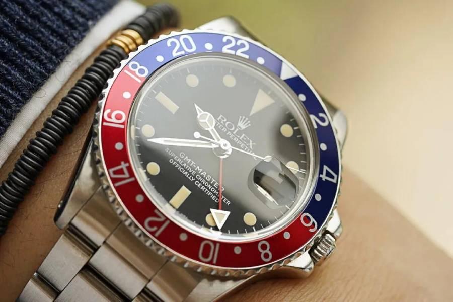 1977年劳力士GMT男士钢表,代表一段经典传奇的古董腕表