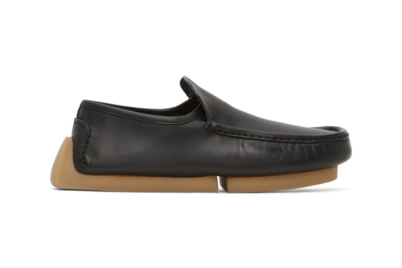Bottega Veneta Black Driver Loafers:让撞鞋成为一件难事